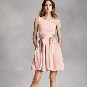 Davids Bridal Vera Wang Short One Shoulder Dress